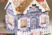 blauw huisje