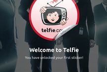 Telfie App Sticker / Telfie is a social entertainment network that lets you check-in to your favorite TV shows and Movies, and connect with users worldwide! Share your check-ins on your social media accounts with just one click, and let your friends know what they should be watching.  Read More: http://telfieid.com