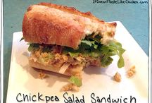 chic pea Salad and Sandwiches