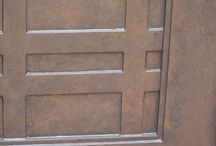 Faux Painting & Murals on Doors / Custom faux finishes and hand painted murals on exterior, interior, and furniture doors