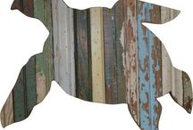 Wood and Metal Wall Art / Home decor made from recycled metal and / or wood.