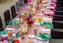 T O G E T H E R // colorful tables / If you love to eat in company turning lunches and dinners into an explotion of colors and food, choose #colorfultable decorations to create that cheerful and fun atmosphere. Just few banquet decorations: colored placemats and glasses, centerpiece filled with citrus and fruits, #flowerarrangements, multicolor tablecloths. For us, decorating tables with colors and food for a #party is as fun as matching colorful ballet flats to clothes! A real treat!  #tabledecorations