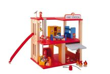 Poppenhuis en speelset / Poppenhuizen en speel sets. De realiteit naspelen in je eigen wereld. Voor jongens en meisjes. Van een groot poppenhuis met meubels en bewoners tot een brandweerkazerne met brandweer auto en brandweermannen.