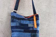 tašky z proužků jeans