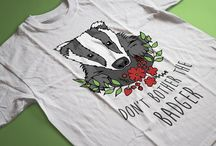 Our Animal T Shirts / Here are our cute animal T Shirts, lovingly designed and drawn by us at The Wild Lifestyle