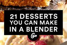 desserts made in a blender