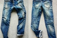 Raw denim effect