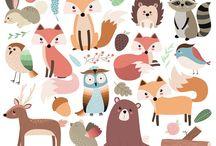 Illustration. Animals