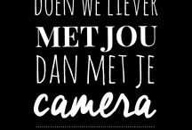 Geen camera's bruiloft print