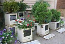 jardin et récup' / des idées de récup' au jardin