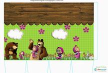 """KIT DIGITAL FREE """"MASHA E O URSO"""" / http://digitalsimples.blogspot.com.br/2016/02/kit-digital-festa-aniversario-masha-e-o.html"""