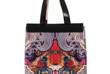 Universal Bag - Blue My Mind / Women Leather Handbags, Limited Edition Designer Leather Bag COLOURS OF MY LIFE - Limited Edition wearable art signed by Anca Stefanescu.