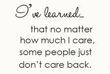 I've learned.....
