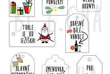 jmenovky na dárky