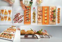 Sacha Colección / La colección Sacha nos ofrece una serie de recipientes cuya finalidad es el servicio de mesa para la degustación de pinchos o tapas. Su versatilidad nos permite multitud de disposiciones, colores y personalizaciones.
