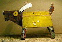 игрушки из старых деревяшек
