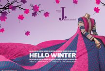 Hello Winter / Winter Collection 2014 / by J. Junaid Jamshed (Private) Limited.