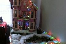 Our Christmas Dollhouses in 1:12 Scale