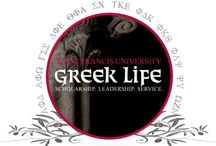 Greek Life at SFU. / International, national, local and service are the many types of sororities and fraternities at Saint Francis.