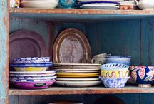 Flea Market Finds / A lifetime of gathered pieces, a cultured and colorful decor style, treasures and surprises collected from the world market
