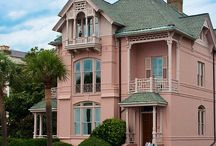 PINK VICTORIAN HOUSES