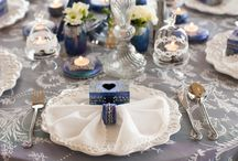 Winter Fairytale Wedding Decor Collection / satoriartandeventdesign.com  #winter #silver #navy #blue #fairytale #design #antique #decor #weddings #eventdesign #weddingdesign #collection #candelabra #candles #events #theme #vintage #cream #handmade #handpainted #rentals #exquisite #luxury