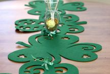 Felt Crafts for St. Patrick's Day / DIY felt crafts, home décor for St. Patrick's Day.