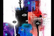 Cosmic adventure (Fairytales of Universe) Small paintings