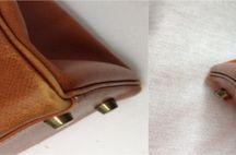 Luxushandtasche Reparatur Restauration / Beispiele wie schön benutzte Handtaschen aufgearbeitet werden können