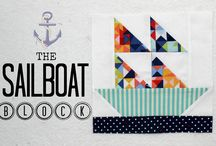 Quilt blocks-Sailboat