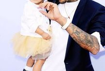 Chris Brown with daughter -Royalty