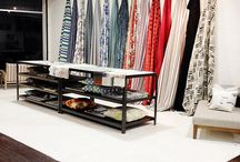 fabric display, showroom