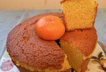 torta y postres con mandarina