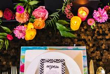 City Brights Styled Shoot / Neon lights and brights / Pattern play / Styled wedding shoot / wedding inspiration