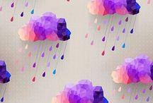 Purple Clouds raindrops