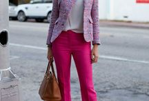 Pink trousers outfits