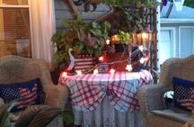 Porch displays / by Country Lace