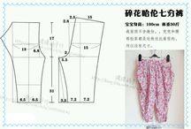 pola celana anak