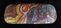 Aboriginal design Glasses Case / Beautiful genuine Australian Aboriginal art designs on a high quality glasses case!