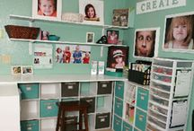 Craft Room Ideas / Finally got the go ahead to turn part of the dining room into a craft area - yay :)