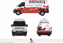 Portifólio - Padronização de Frota / Arte para envelopamento total ou parcial de veículos. Adesivo de Impressão Digital ou Plotter de Recorte.