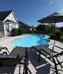"Venetian Pool model by San Juan Fiberglass Pools / Venetian   Width 14' / 4.52M Length 28' / 8.53M Depth 5' 4"" / 1.63M Area 311ft2 / 28.9M2 Volume 9,500G / 36,000L  http://www.sanjuanpools.com"