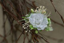 Floral hair clip, pin