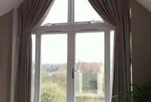 angled drapes