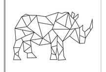 Geometri origami tegninger