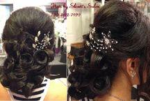 Beautiful Romentic Bridal updo's by Shruti's Bridal Salon / Hair styles and updo's by Shruti's Salon