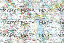 Mapy / Mapy z našej kartografickej dielne.