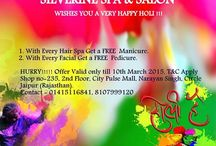Silverine Spa & Salon to avail your HOLI offers.