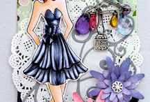 Prima Paper Dolls / Beautiful creations and projects made using Prima Paper Dolls stamps