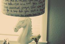 DIY lamp shade / by Abigail